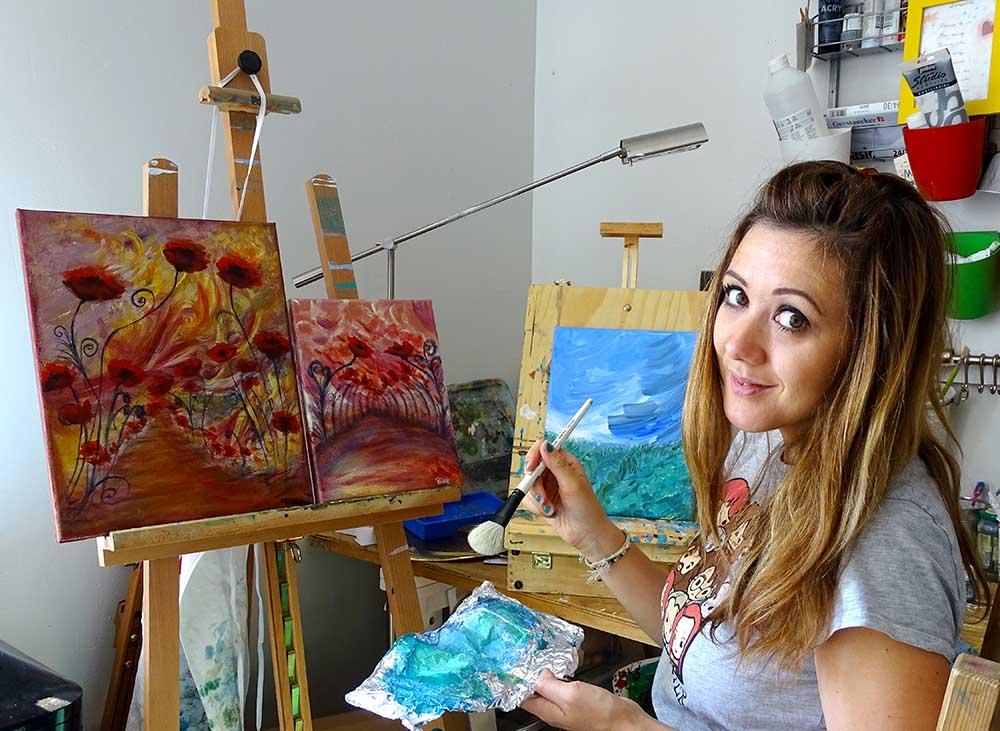 femme artiste peintre contemporain