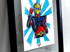 Peinture sur papier Actarus - Fulguro'Actarus