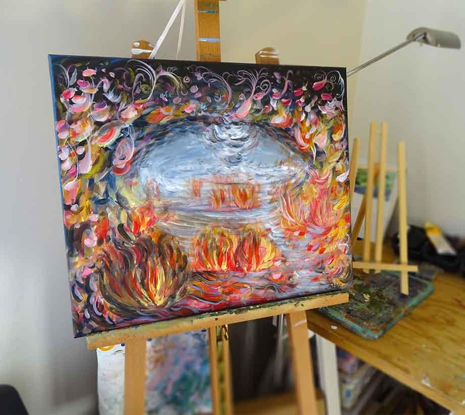tableau coloré abstrait
