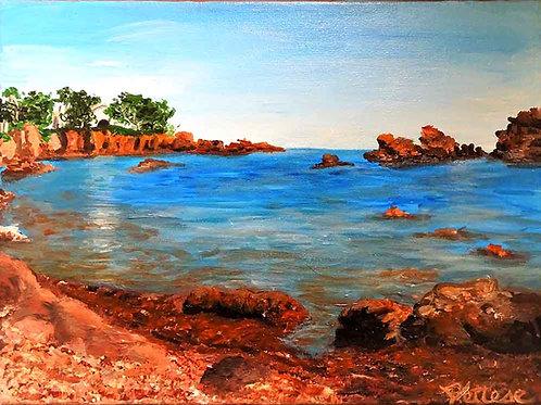 peinture sur toile, marine