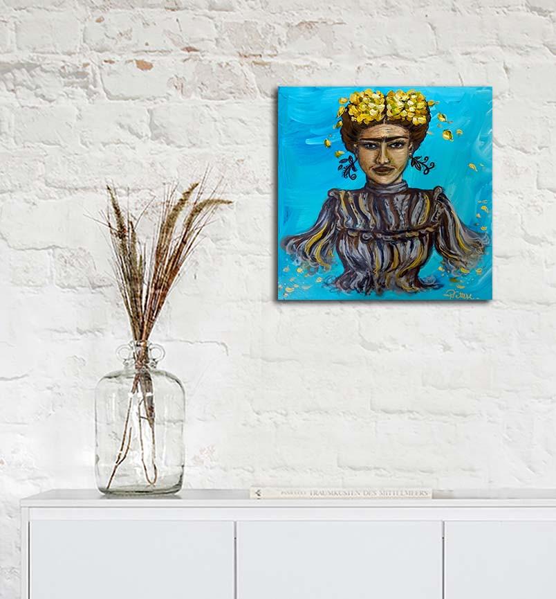 tableau portrait peinture frida kahlo