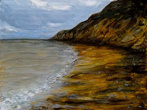 peinture plage normandie