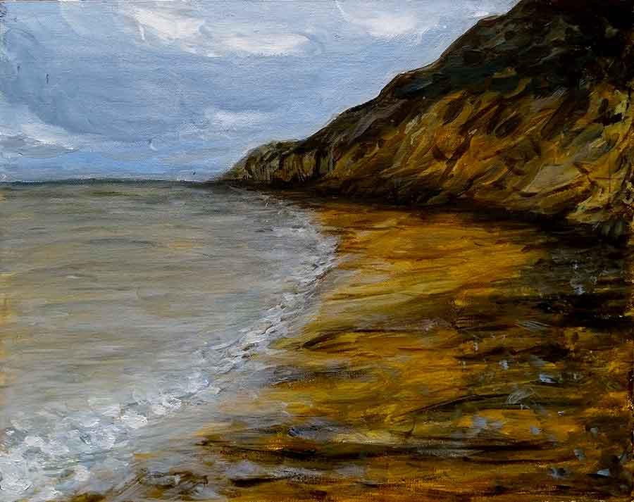 peinture paysage falaise
