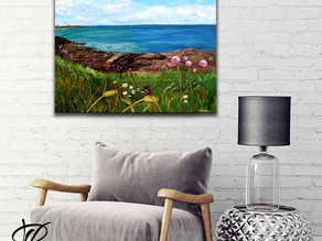 Grande peinture paysage - Quiberon