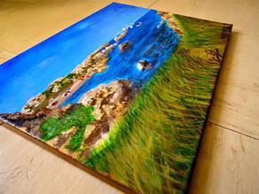 """Peinture marine contemporaine """"Corse"""""""