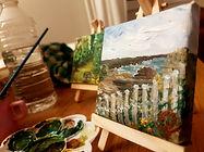 peinture paysage mini