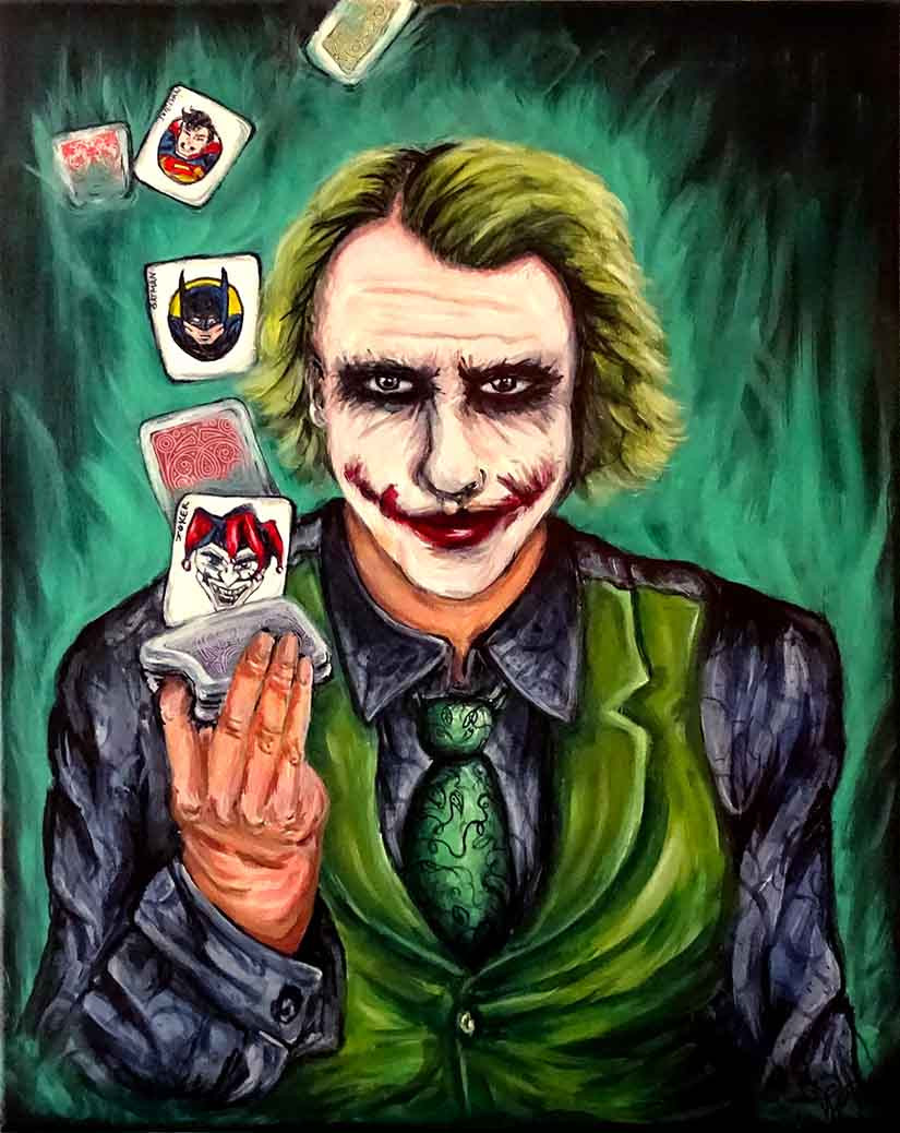 tableau pop art joker