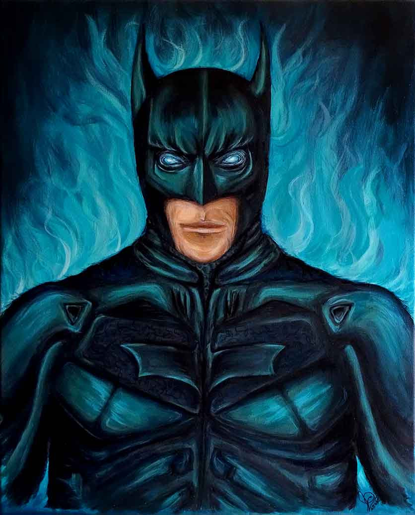 peinture pop art batman