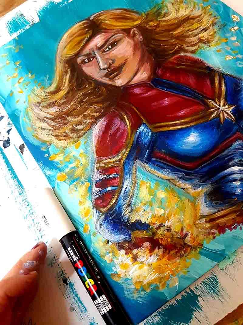 Peinture Captain Marvel