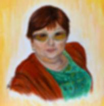 peinture portrait personnalisé grand mère