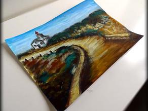 Peinture paysage de Bretagne