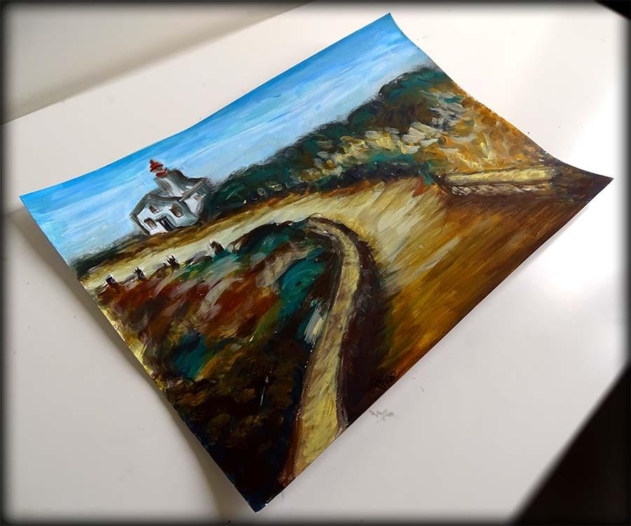 peinture paysage phare