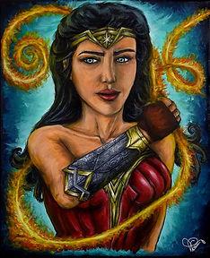 Peinture Wonder Woman