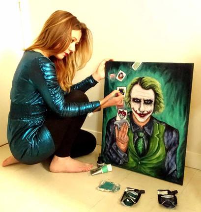 Le célèbre Joker en cours de travail...