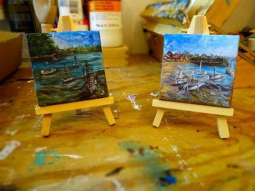 mini peintures marines