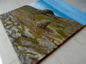 """Peinture paysage mer """"Quiberon 4"""""""