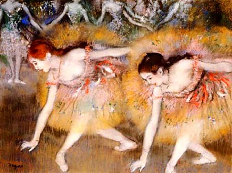 Danseuses se baissant, Edgar Degas