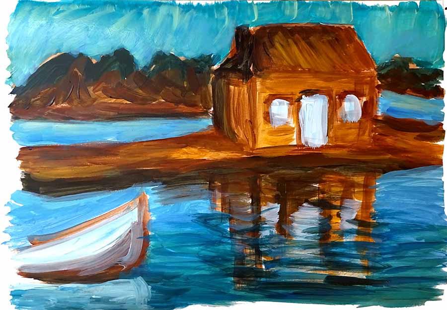mouvement eau peinture