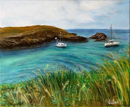 "Tableau paysage, mer - ""Belle Ile en Mer 3"""