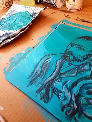 Vincent Van Gogh en cours de travail