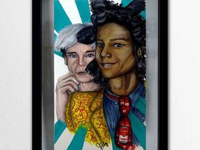 Tableau peinture Warhol et Basquiat