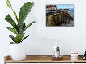 Peinture marine contemporaine - Arromanches