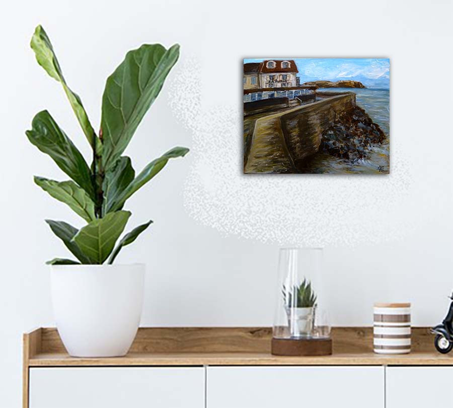 peinture marine arromanches