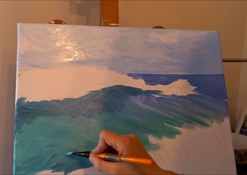 Astuces pour peindre paysage marin