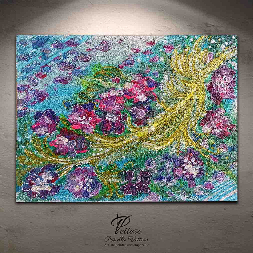 Abstract painting flowers