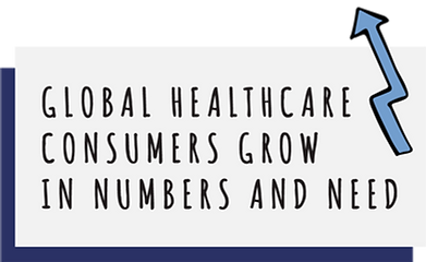 Global healthcare consumers grow in numbers and need