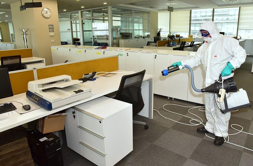 Decontamination Fogging of an Office