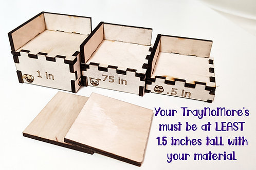 Tray-No-More - Risers for you Glowforge