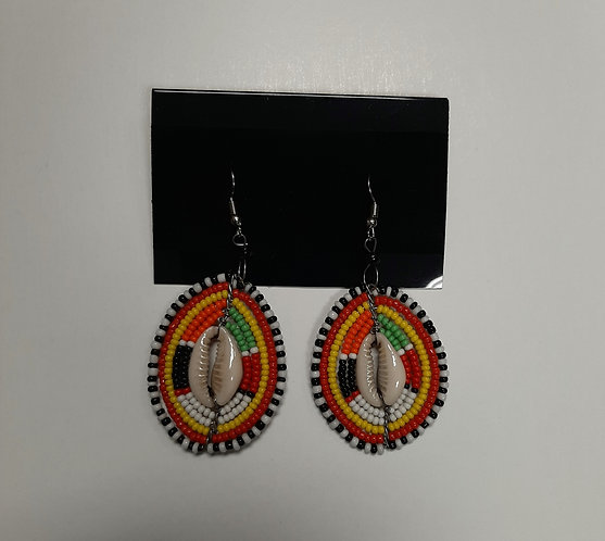 Maasai Cowrie Shell Earrings