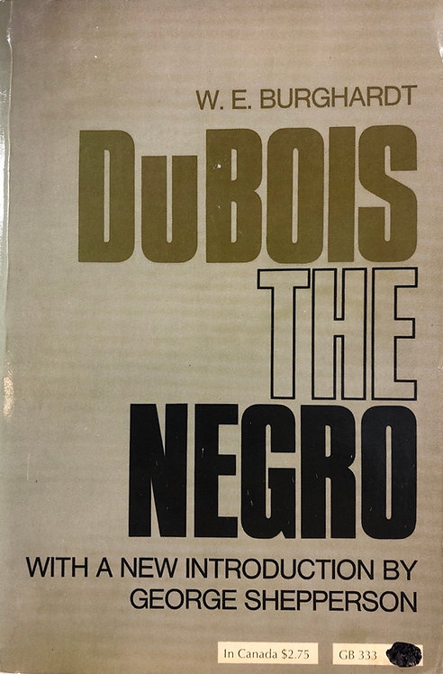 DuBois The Negro