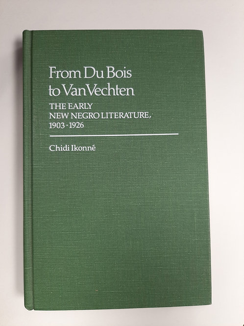 From DuBois to VanVechten