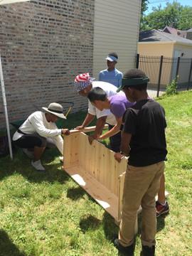 Building garden beds