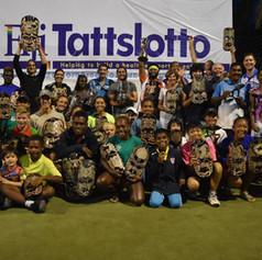 Winners and runners-up of the 2018 Fiji Open Tennis Championship at Denarau Golf & Racquet Club