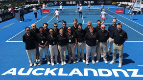 Local Tennis Coach Shows Class at Auckland Open