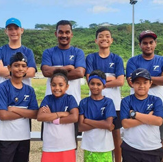 Coach Sachin Reddy with Team Fiji at the 2019 Vanuatu Junior Regional Championships in Port Vila.