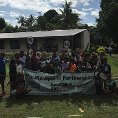 Tennis Fiji outreach program in Velovelo community, October 2019.
