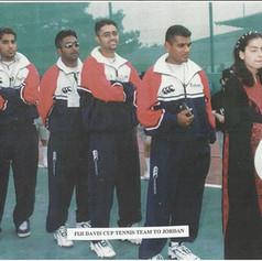 The Davis Cup tennis team representing Fiji in Jordan in 2000.