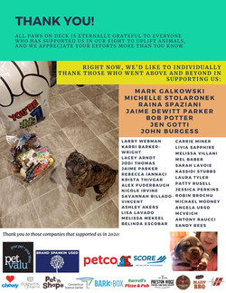 All Paws on Deck Dog Rescue Annual Report 2020 page 4