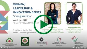 Women, Leadership & Innovation Series: Spring Webinar