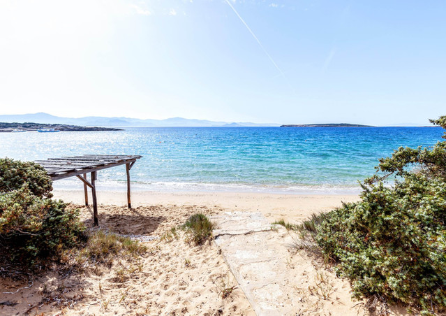 Private beach, Paros