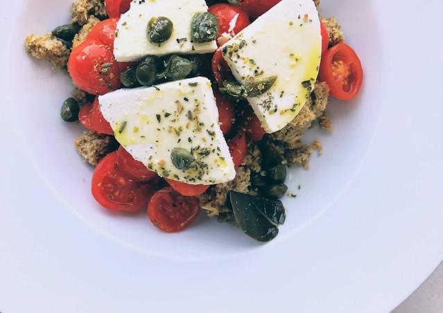 Tomato salad at Spilia, Mykonos