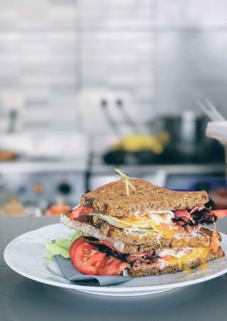 Club sandwich at Elia Kafenes, Antiparos