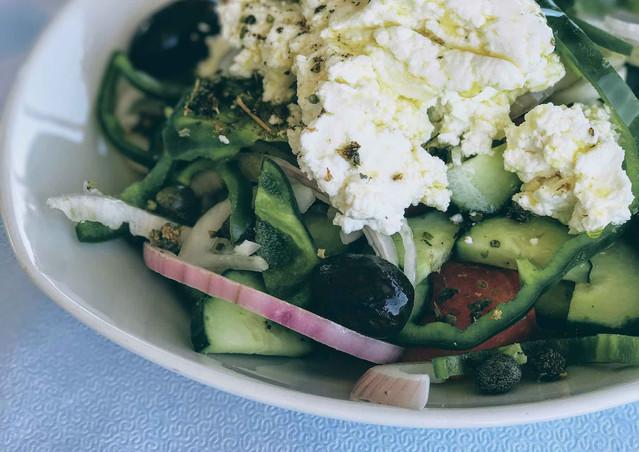 Greek Salad at Captain Pipinos, Antiparos