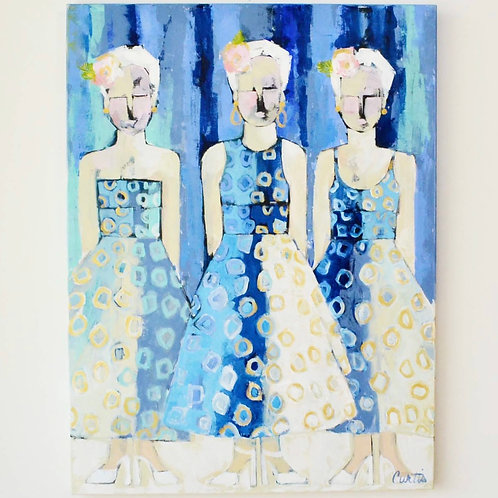 36x48, Ladies in Blue