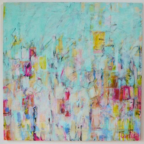 48x48, Abstract in Aqua
