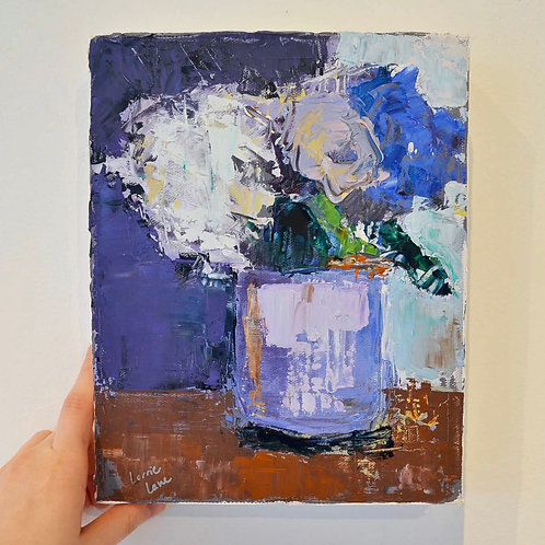 8x10, Bouquet on canvas